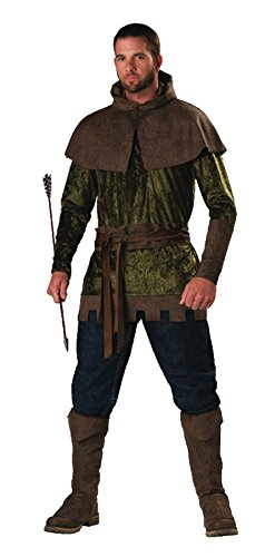 GTH Men's Storybook Medieval Renaissance Robin Hood Of Nottingham Costume, X-Large (Storybook Prince Adult Mens Costumes)