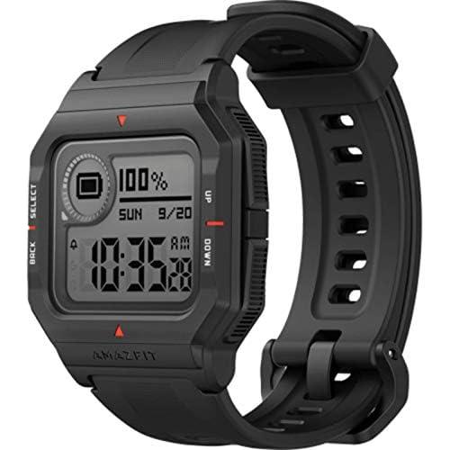chollos oferta descuentos barato Amazfit Neo Smart Watch Reloj Inteligente 28 Días Batería 5 ATM Sensor Seguimiento Biológico Frecuencia Cardíaca iOS Android Negro