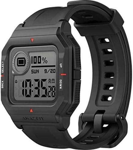 Amazfit Neo Smart Watch Reloj Inteligente 28 Días Batería 5 ATM Sensor Seguimiento Biológico Frecuencia Cardíaca iOS & Android Negro