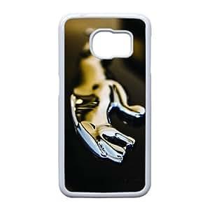 Generic hard plastic Jaguar Logo Cell Phone Case for Samsung Galaxy S6 White ABC83