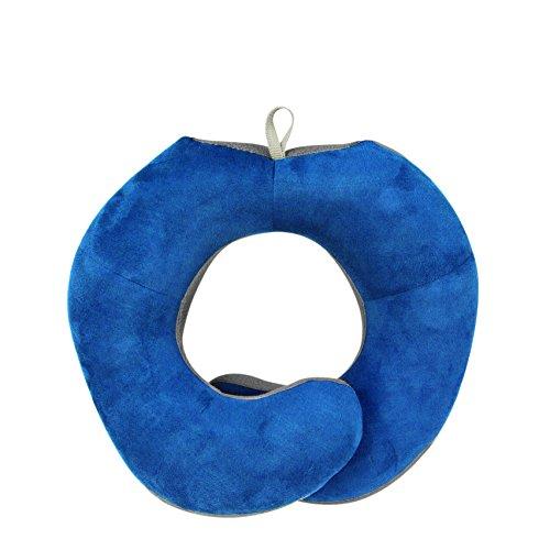 Travelon Wrap Around Travel Pillow, Cobalt/Gray