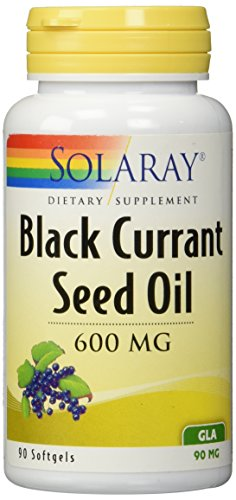 Solaray Black Currant Seed Oil, 600 Mg, 90 Softgels For Sale