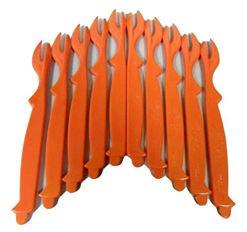 Spirit Brands Sea-Sheller for Crab, Lobster, Shrimp - 10 pack (Orange)