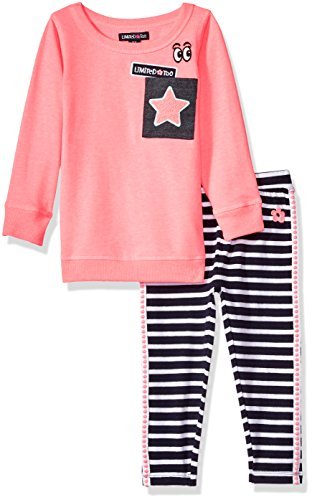 Limited Too Toddler Girls' Fashion Top and Legging Set (More Styles Available), Neon Pink KZ71, - Pink Neon Code