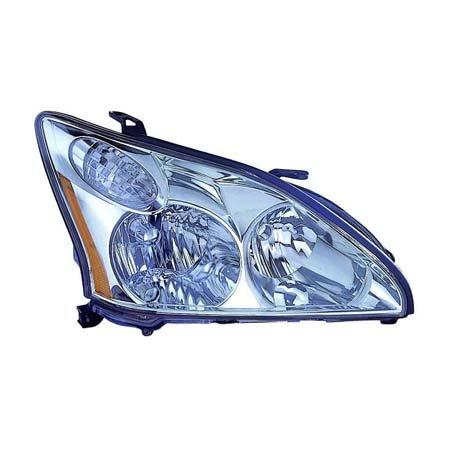 Fits Lexas RX330 2004-06/RX350 2007-2009 Headlight Assembly Halogen USA Built Passenger Side (NSF Certified) ()