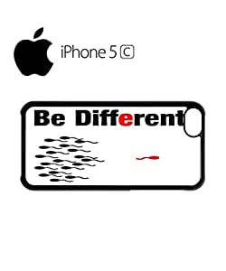 Be Different Sperm Mobile Cell Phone Case Cover iPhone 5c Black