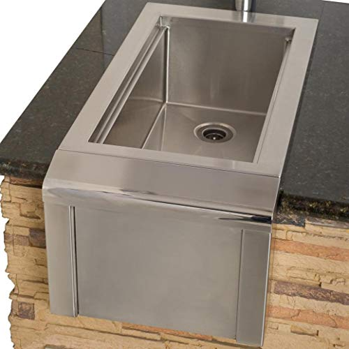 Alfresco 14-Inch Outdoor Rated Versa Bartender & Sink System - AGBC-14