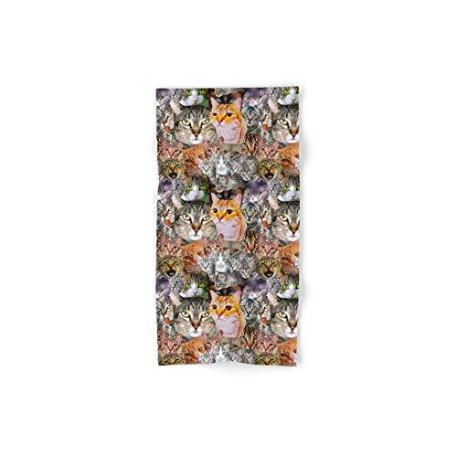 Society6 Bath Towel, 30'' x 15'', Cats! by gloriasanchezartist by Society6