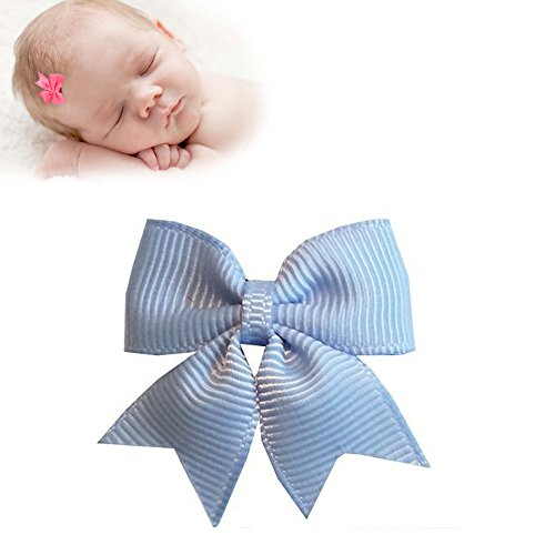 TruStay Clip – Butterfly baby hair bows – Best No Slip Barrette for Fine Hair (B7-Blue)