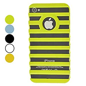 Solid Color Novel 3D Staircase Style Hard Case for iPhone 4/4S (Assorted Colors) --- COLOR:Orange
