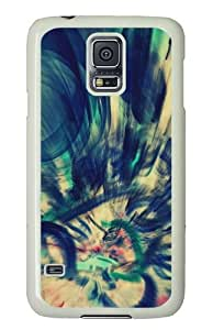Samsung Galaxy S5 Case Cover - Abstraction Hard Case Cover For Samsung Galaxy S5 - PC White
