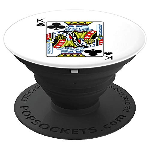 King Of Clubs Playing Card Group Costume Poker Player PopSockets Grip and Stand for Phones and Tablets]()