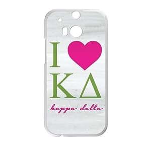 I Love Kappa Delta Grey HTC One M8 Cell Phone Case White Pretty Present zhm004_5986315