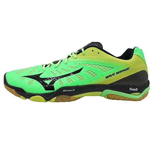 green neon Mizuno Court lime punch Shoes Indoor Wave Mirage black AW15 Hprwq0RrY