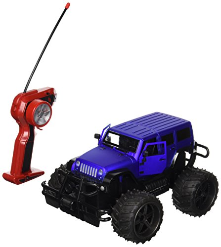 Velocity Toys Jeep Wrangler Cross Country 1:14 Scale Battery Operated Remote Controlled 4WD 2.4 GHz Toy RC Truck w/Remote Control,& Door Opening Action (Colors May Vary)