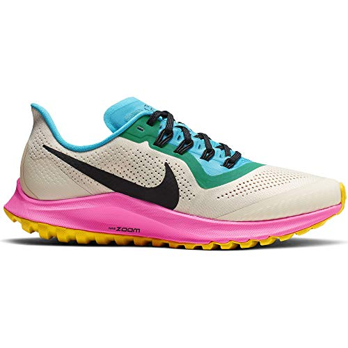 Nike Air Zoom Pegasus 36 Trail Women's Running Shoe LT Orewood BRN/Black-Pink Blast Size 7.0