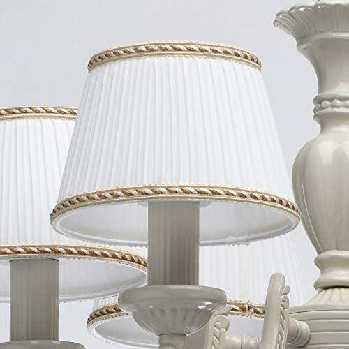 Ceiling Light Chandelier Fabric Shade Classic Diameter 52 cm 6 Bulbs Excl. E14 6 x 60W 230V