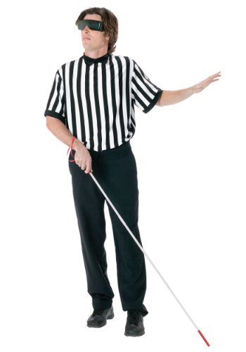 [FunWorld Men's  Blind Referee Kit, Black, One Size] (Mens Referee Costumes)