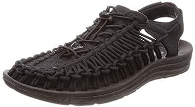 KEEN Australia Men's Uneek Trekking Sandal, Black/Black, 7 US