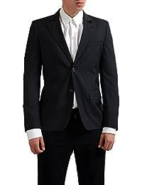 100% Wool Gray Two Buttons Men's Blazer US 42 IT 52