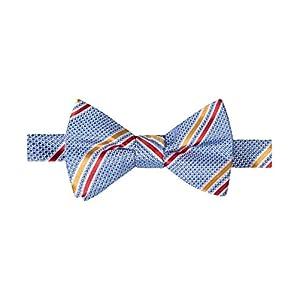Countess Mara Mens Decker Textured Striped Bow Tie