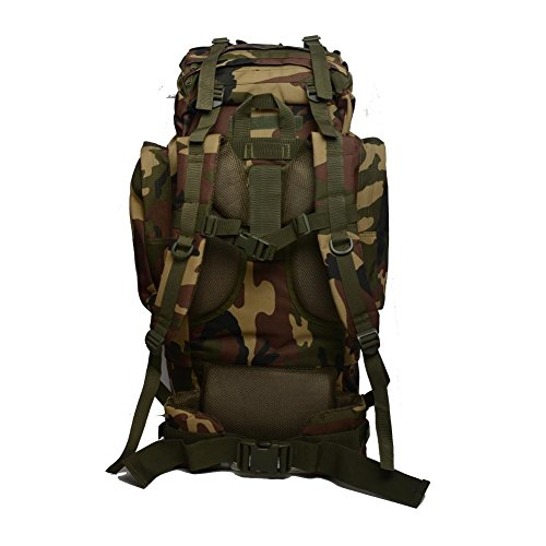Bolso de montaña al aire libre Mochila táctica 65L Mochila de viaje de gran capacidad , jungle digital jungle camouflage