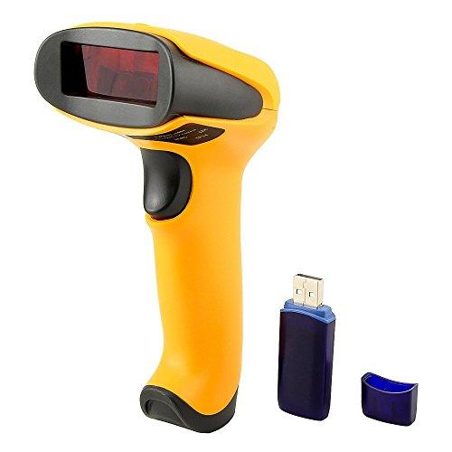 Wireless Barcode Scanner Terow 1D LASER Barcode Reader 433/MHz Schnurlosen USB-Barcode Scanner Handhold Bar Code Scanner mit USB Receiver f/ür Lager Store Supermarkt und mehr Schwarz