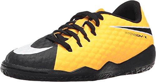 Nike Kids' Hypervenom Phelon III Indoor Soccer Shoes (3 Little Kid M)