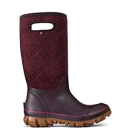(Bogs Womens Whitout Fleck Snow Boot, Grape, Size 8)