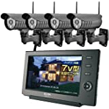 ELPA ワイヤレス防犯カメラ4台&モニター【オリジナルセット】 CMS-7110-C71シリーズ