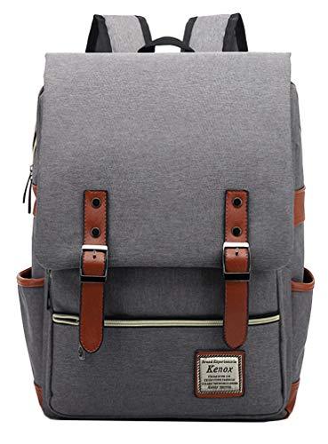 Kenox Vintage Laptop Backpack College Backpack School Bag Fits 15-inch Laptop (Best Laptop For Med School)