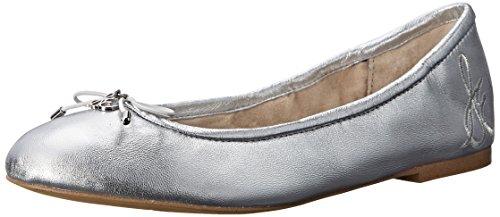 - Sam Edelman Women's Felicia Ballet Flat, Soft Silver Metallic, 6 M US
