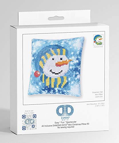 Diamond Dotz Mini Pillow Snowman cap