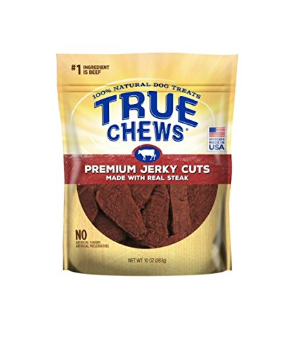 True Chews Premium Jerky Cuts made with Real Steak 10oz (2 pack)