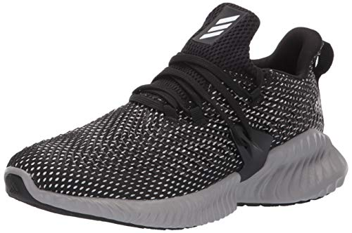 Adidas Kids Alphabounce Instinct, Black/White/Grey, 1 M US Little Kid by adidas (Image #1)