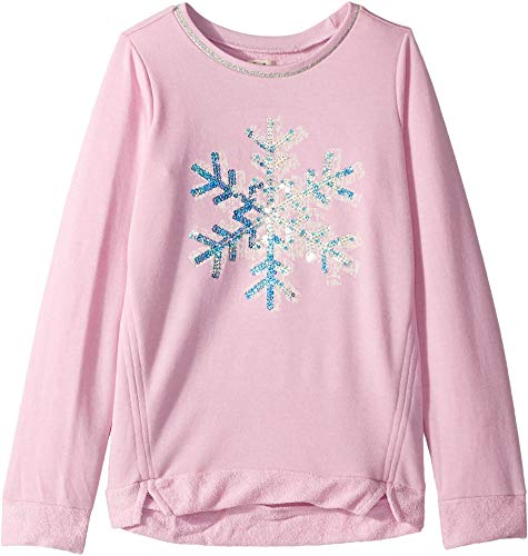- Hatley Kids Baby Girl's Sequined Snowflake Long Sleeve Pullover (Toddler/Little Kids/Big Kids) Pink 6