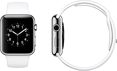 "Original Apple Watch 42mm (fits 5.5"" - 8.2"" wrists) - Space Gray Aluminium Case, Black Sport Band Edition (Retail Packaging)"