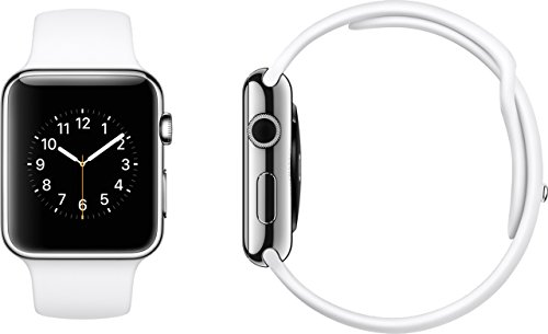 Apple Watch 42mm Silver Aluminum Case with White Sport Band