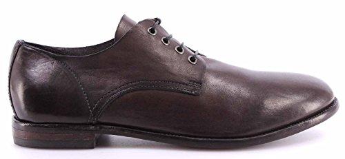 Zapatos Hombre MOMA Anthracite Business Man Derby Vintage Cuero Made Italy Nuevo