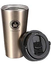 Yierya Mug Isotherme, Mug de Voyage Isotherme étanche en Acier Inoxydable de Qualité Alimentaire, Bouteille d'eau à Double Paroi