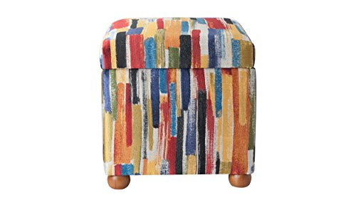 Jennifer Taylor Home 2319-797 Jacob Storage Cube Collection Modern Fabric Upholstered Animal Print Ottoman, Multi-Colored, Multicolor by Jennifer Taylor Home
