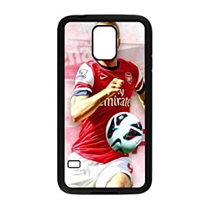 Arsenal Football Club Classic Design Print Black Case With Hard Shell Cover for SamSung Galaxy S5