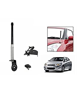 DELHI TRADERSS Car Front/Rear VIP Antenna (Black)
