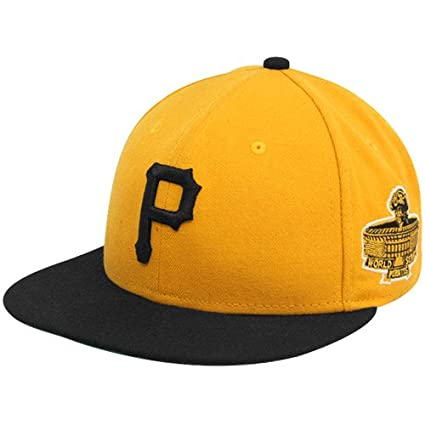 MLB New Era Pittsburgh Pirates Gold 1971 World Series 59FIFTY Fitted Hat (7  3  8d7e37b80ace
