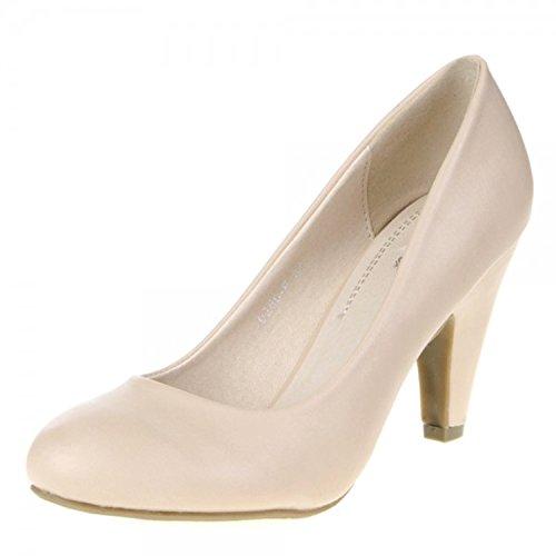 Klassische Damen Pumps Stilettos Abend Schuhe Party Hochzeit 60 Beige