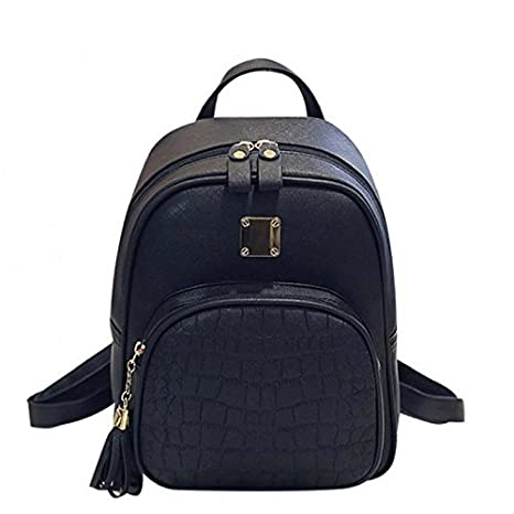 9c8428acf5afd0 RANSI TASSEL CROCODILE PATTERN LEATHER College/School/Party/Rucksack/Travel  Backpack/Bag: Amazon.in: Sports, Fitness & Outdoors