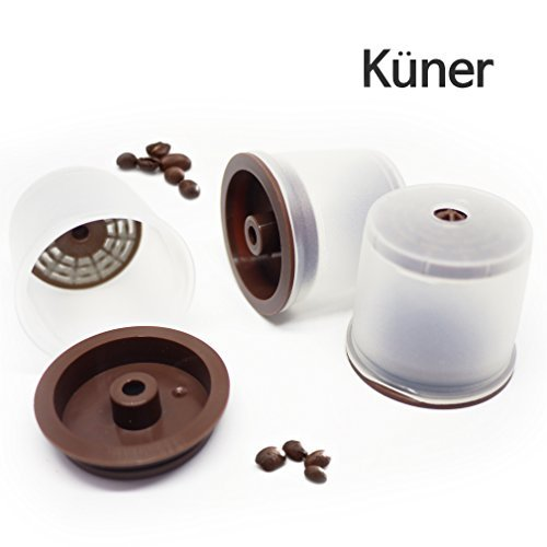 Kuner illy Compatible Refillable 3 Counts Capsules Reusable Filters with All illy Coffee Machine