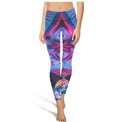 XIdan-die Womens Yoga Pants Trippy Trance Bassline Workout Running Leggings