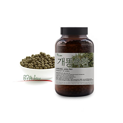 - [Korean Herbal Pills] Natural Artemisia Annua ( Sweet Wormwood / Sweet Annie ) Pills 개똥쑥 환 5oz (142g)