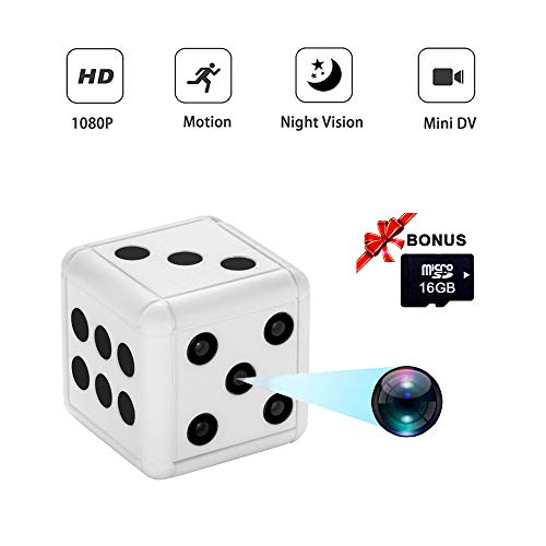 Fun&H Dice Mini Hidden Spy Camera, 1080P Portable Wireless Nanny Cam with Night Vision and Motion Detection, Covert Security Camera for Home and Office